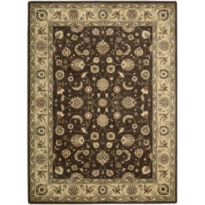 Merton Brown Area Rug Rug Size: 56 x 75