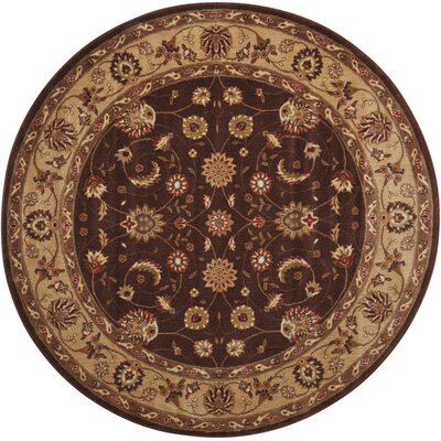 Merton Brown Area Rug Rug Size: Round 56