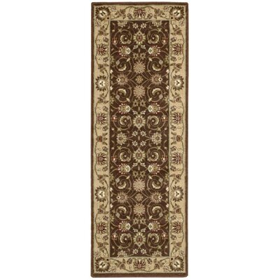 Merton Brown Area Rug Rug Size: Runner 23 x 8
