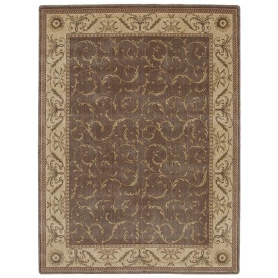 Merton Khaki Area Rug Rug Size: 79 x 1010