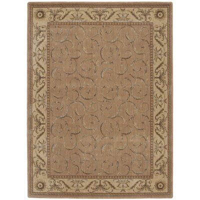 Merton Hand-Woven Peach Area Rug Rug Size: Rectangle 56 x 75