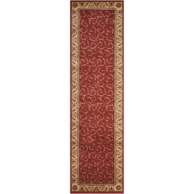 Merton Red/Gold Area Rug Rug Size: Runner 23 x 8