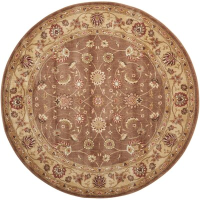 Merton Hand-Woven Taupe Area Rug Rug Size: Round 56