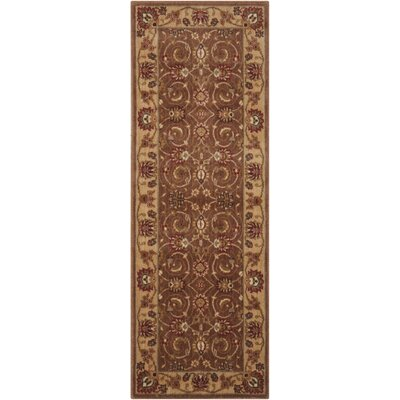 Merton Hand-Woven Taupe Area Rug Rug Size: Runner 23 x 8