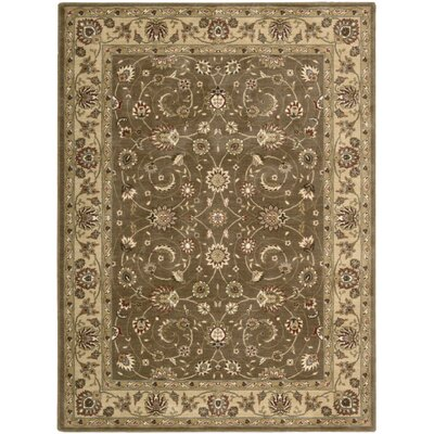 Merton Hand-Woven Taupe Area Rug Rug Size: 56 x 75