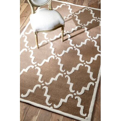 Parkman Divina Hand-Tufted Brown Area Rug Rug Size: Rectangle 6 x 9