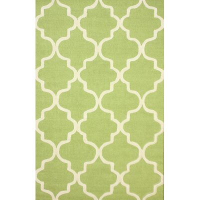 Mikayla Green Geometric Wool Hand-Tufted Area Rug
