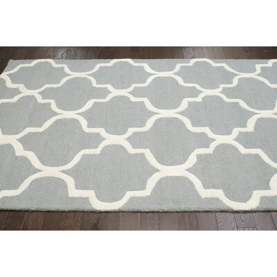 Parkman Holly Hand-Woven Gray Area Rug Rug Size: 5 x 8