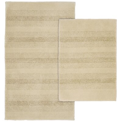 Herleston 2 Piece Bath Rug Set Color: Linen