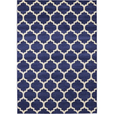 Coughlan Blue/Ivory Area Rug Rug Size: Rectangle 7 x 10