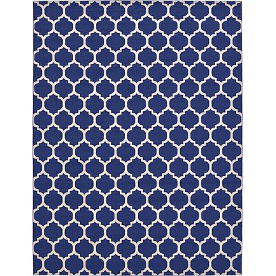 Coughlan Blue/Ivory Area Rug Rug Size: Rectangle 13 x 18