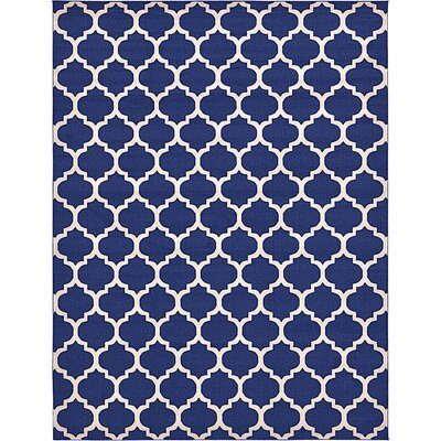 Coughlan Blue/Ivory Area Rug Rug Size: Rectangle 10 x 13