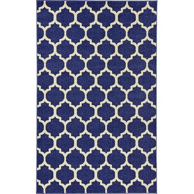 Coughlan Navy Area Rug Rug Size: 5 x 8