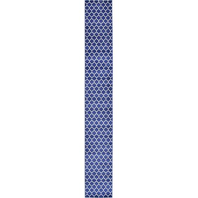 Coughlan Navy Area Rug Rug Size: Runner 27 x 198