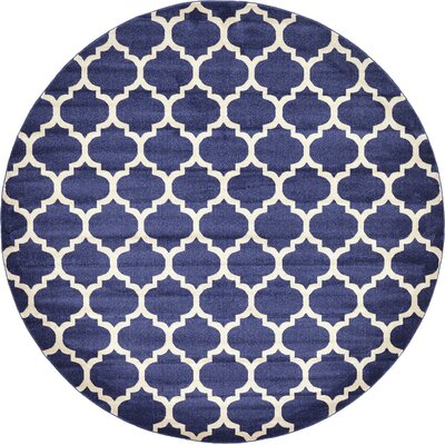 Coughlan Navy Area Rug Rug Size: Round 10