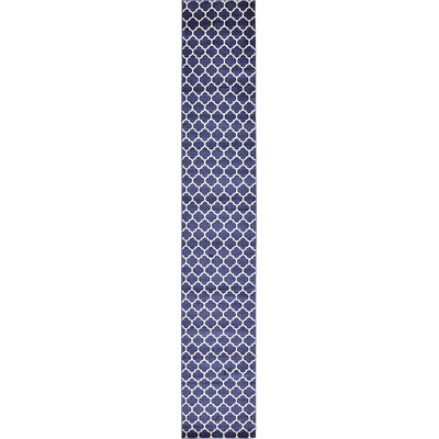 Coughlan Navy Area Rug Rug Size: Runner 27 x 165