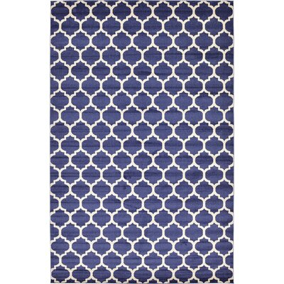 Coughlan Blue/Ivory Area Rug Rug Size: Rectangle 106 x 165