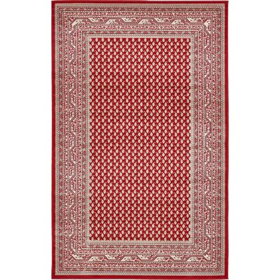Michael Red Area Rug Rug Size: 5 x 8