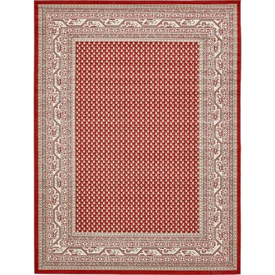 Michael Red Area Rug Rug Size: 9 x 12
