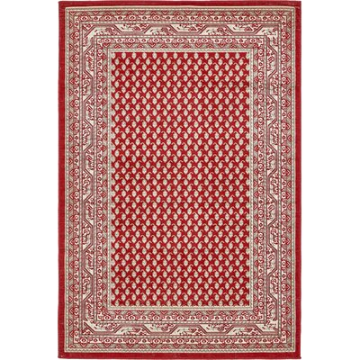 Michael Red Area Rug Rug Size: 4 x 6