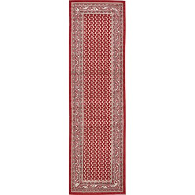Michael Red Area Rug Rug Size: Runner 29 x 910