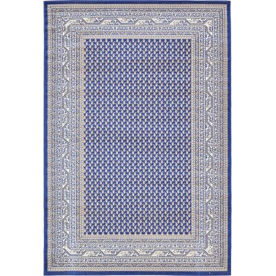 Michael Blue Area Rug Rug Size: 6 x 9