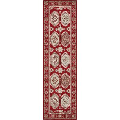 Michael Red Area Rug Rug Size: Runner 3 x 10