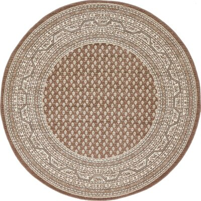 Michael Brown Area Rug Rug Size: Round 5