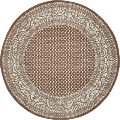 Michael Brown Area Rug Rug Size: Round 8