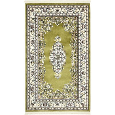 Courtright Green Area Rug Rug Size: 5 x 8