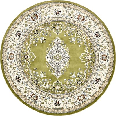Courtright Green Area Rug Rug Size: Round 10
