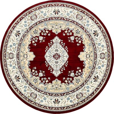 Courtright Burgundy/Tan Area Rug Rug Size: 10 x 13