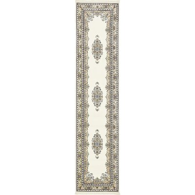 Courtright Cream/Ivory Area Rug Rug Size: Runner 3 x 13