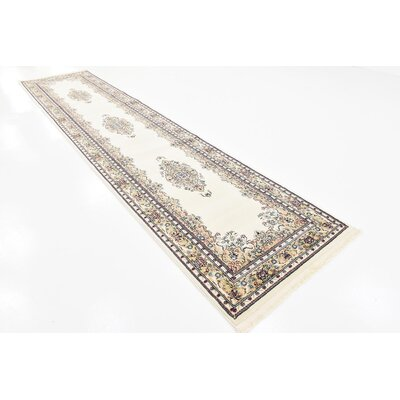 Courtright Cream/Ivory Area Rug Rug Size: Rectangle 10 x 13