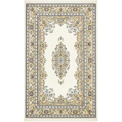 Courtright Cream/Ivory Area Rug Rug Size: 13 x 198