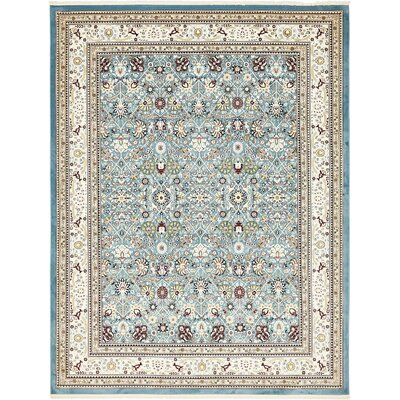 Courtright Blue/Ivory Area Rug