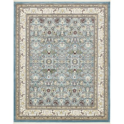 Courtright Blue/Ivory Area Rug Rug Size: 10 x 13