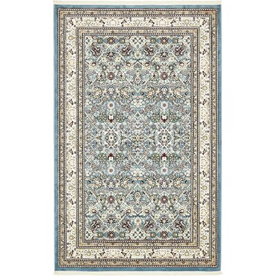 Courtright Blue/Ivory Area Rug Rug Size: 13 x 198