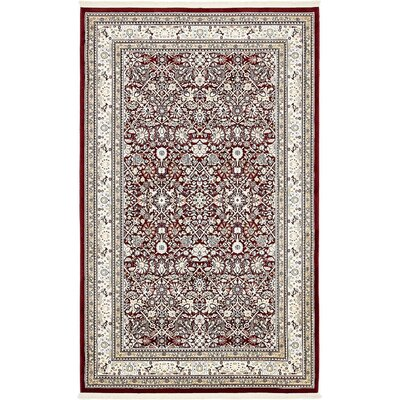 Courtright Burgundy/Ivory Area Rug Rug Size: 13 x 198