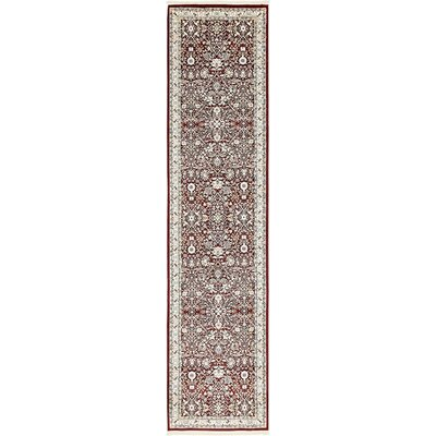 Courtright Burgundy/Ivory Area Rug Rug Size: Runner 3 x 13