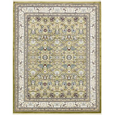 Courtright Green/Tan Area Rug Rug Size: 10 x 13