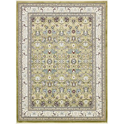 Courtright Green/Tan Area Rug Rug Size: 13 x 198