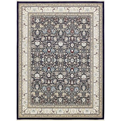 Courtright Navy Blue/Tan Area Rug Rug Size: 13 x 198
