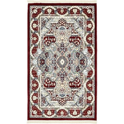 Courtright Burgundy/Tan Area Rug