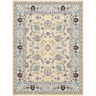 Courtright Tan/Ivory Area Rug Rug Size: 3 x 5