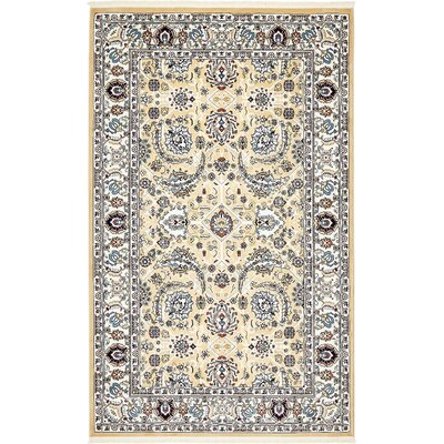 Courtright Tan/Ivory Area Rug Rug Size: 13 x 198