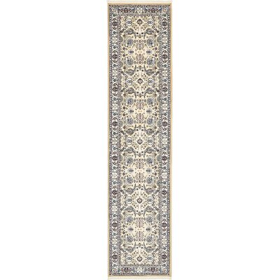 Courtright Tan/Ivory Area Rug Rug Size: Runner 3 x 13