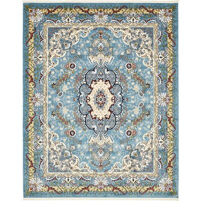 Courtright Blue/Tan Area Rug Rug Size: 10 x 13