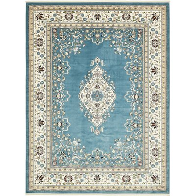 Courtright Blue/Tan Area Rug Rug Size: 13 x 198