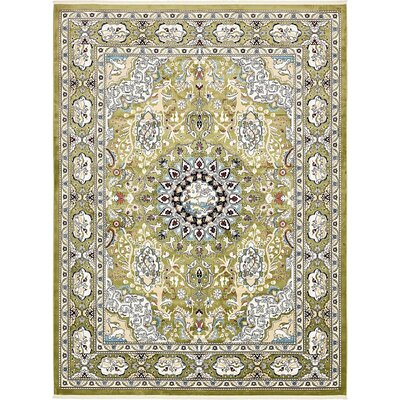 Courtright Green/Tan Area Rug Rug Size: 5 x 8
